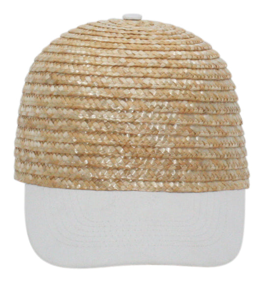 Yieldings Discount Accessories Store's Baseball Style Straw Cap 2 by Aqua in Natural White