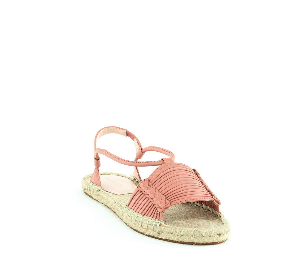 Yieldings Discount Shoes Store's Genevie Flat Sandals by Avec Les Filles in Coral Shiny