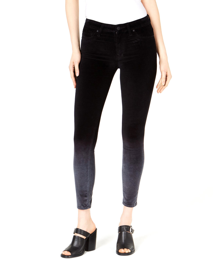 Yieldings Discount Clothing Store's Nico Mid-Rise Super-Skinny Ankle Jeans by Hudson in Degrade Black Slate
