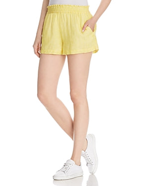 Yieldings Discount Clothing Store's Fenna Smocked-Waist Shorts by Joie in Pineapple