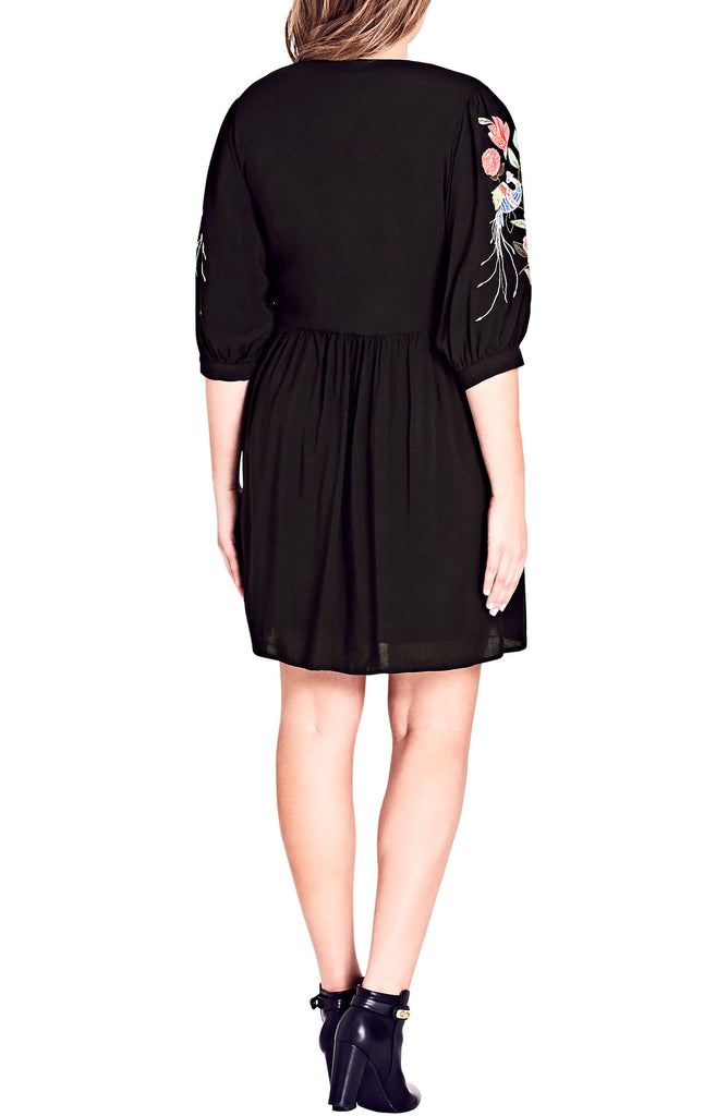 Yieldings Discount Clothing Store's Phoenix Mini Dress by City Chic in Black