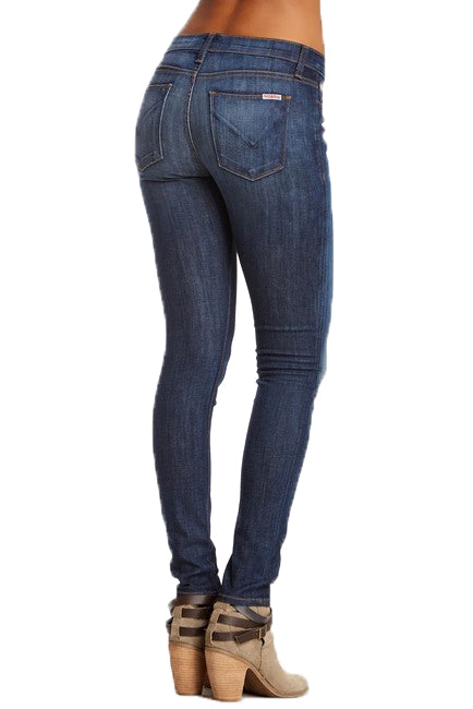 Yieldings Discount Clothing Store's Nico Mid Rise Super Skinny by Hudson in Navy