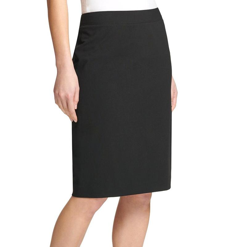 Yieldings Discount Clothing Store's Ponte Pencil Skirt by DKNY in Black