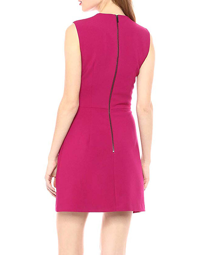 Yieldings Discount Clothing Store's Whisper Sleeveless Sheath Dress by French Connection in Cherry
