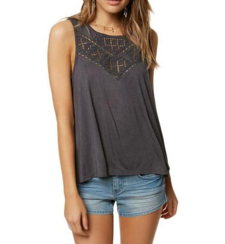 Yieldings Discount Clothing Store's Charline Tank Top by O'Neill in Asphalt