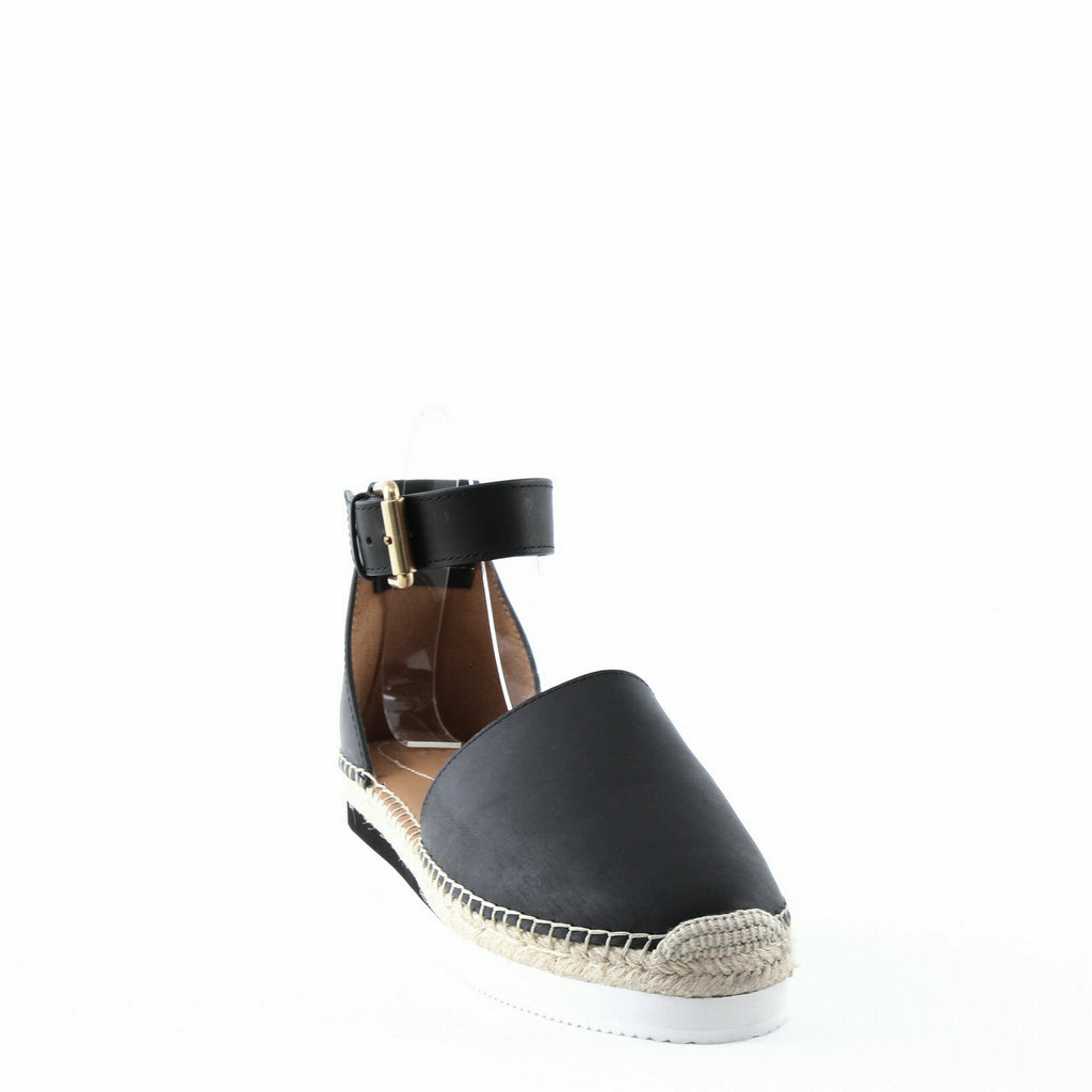 Yieldings Discount Shoes Store's Glyn Suede Ankle-Strap Platform Espadrilles by See by Chloe in Black