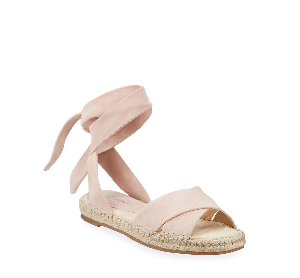Yieldings Discount Shoes Store's Tereza Ankle Wrap Espadrille Sandals by Splendid in Blush