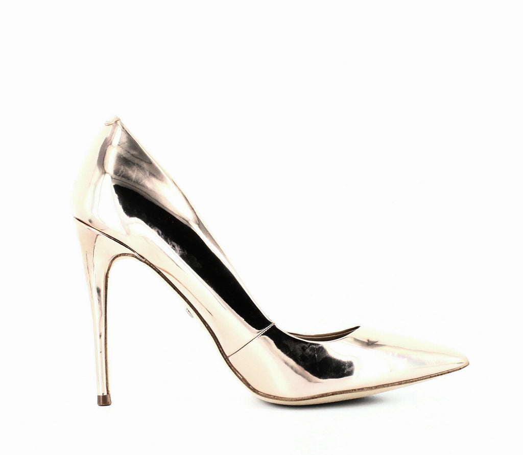 Yieldings Discount Shoes Store's Stessy Metallic Pumps by Aldo in Rose Gold
