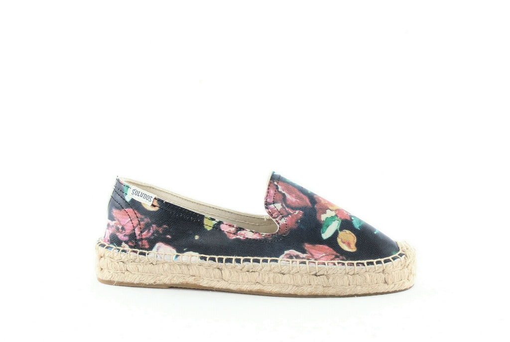 Yieldings Discount Shoes Store's Platform Espadrilles by Soludos in Floral Black