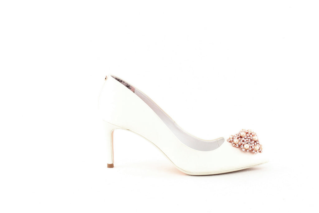 Yieldings Discount Shoes Store's Dahrlin Pumps by Ted Baker London in Ivory