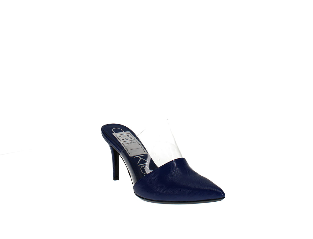 Yieldings Discount Shoes Store's Graycie Heeled Mules by Calvin Klein in Royal Blue