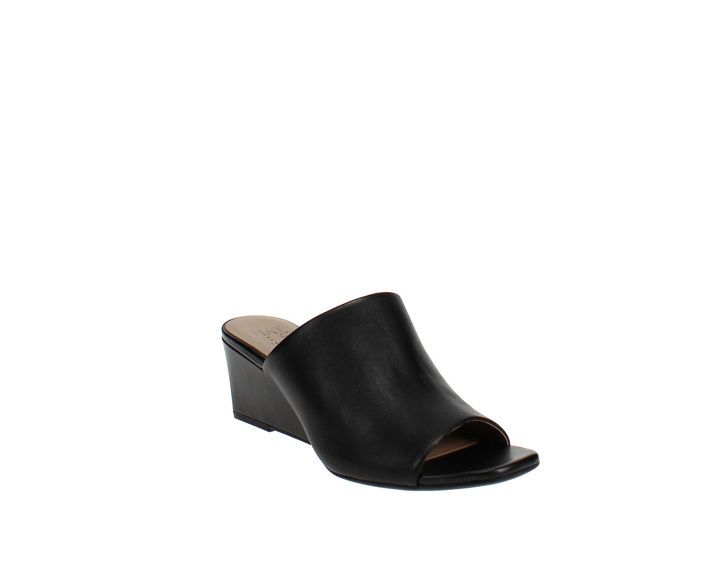 Yieldings Discount Shoes Store's Zaya Wedge Slide Sandal by Naturalizer in Black