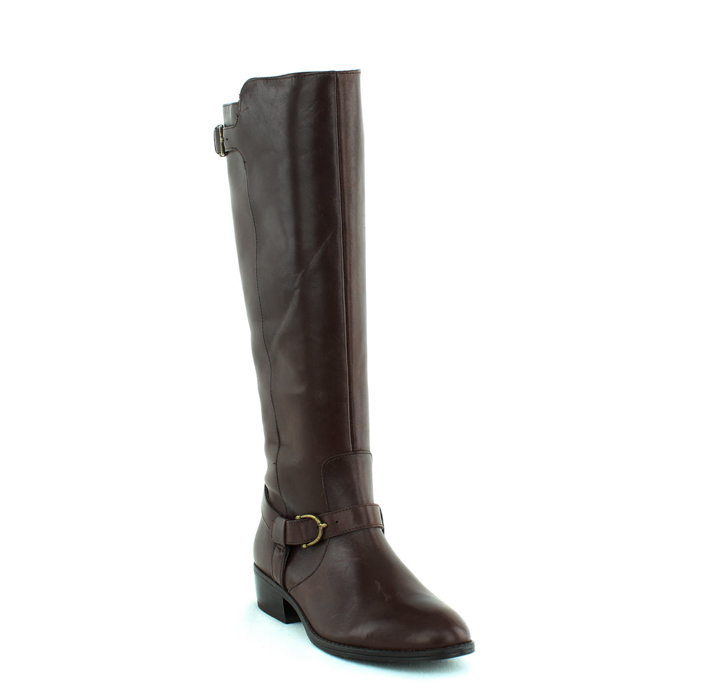 Yieldings Discount Shoes Store's Margarite Riding Boots by Lauren by Ralph Lauren in Dark Brown