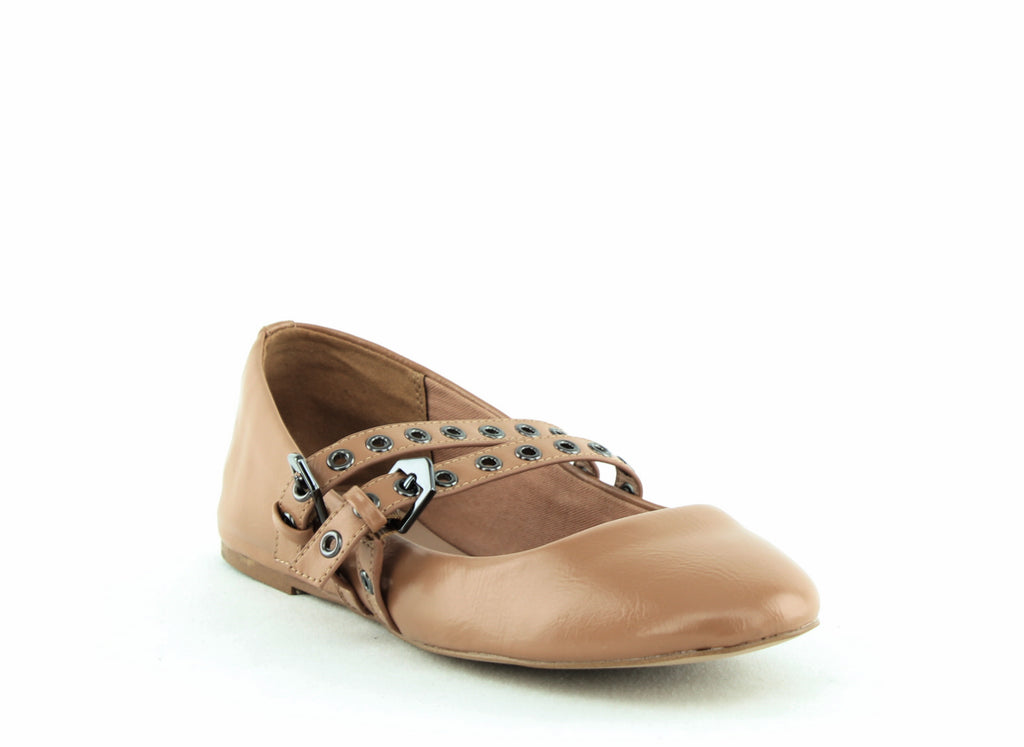 Yieldings Discount Shoes Store's Grace Belted Ballet Flats by BCBGeneration in Makeup