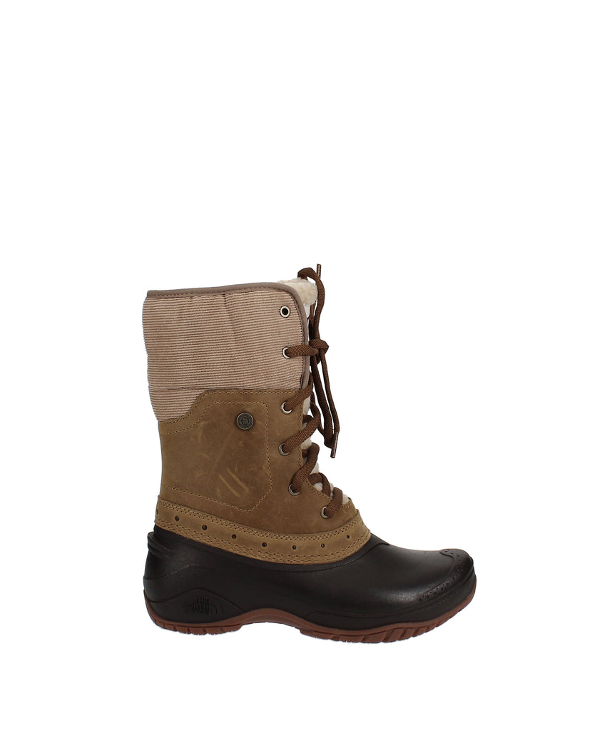 Yieldings Discount Shoes Store's Shellista Roll-Down Winter Boots by The North Face in Golden Brown
