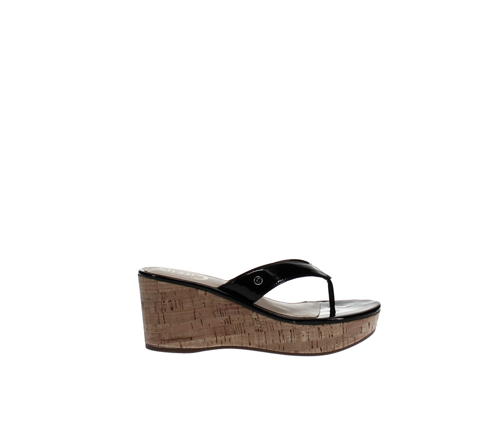 Yieldings Discount Shoes Store's Raquel Cork Wedge Sandals by Circus by Sam Edelman in Black