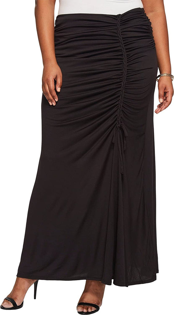 Yieldings Discount Clothing Store's Mermaid Maxi Skirt by Kiyonna in Black