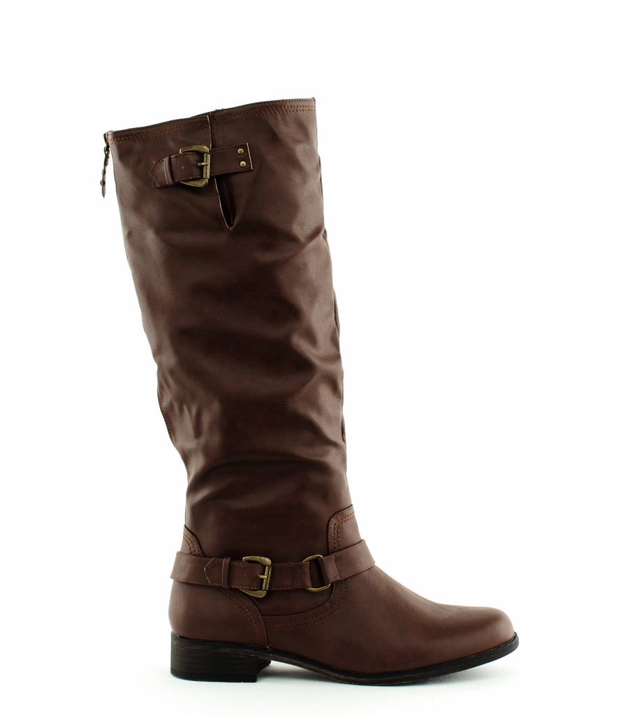 Yieldings Discount Shoes Store's Moira Mid-Calf Boots by XOXO in Brown
