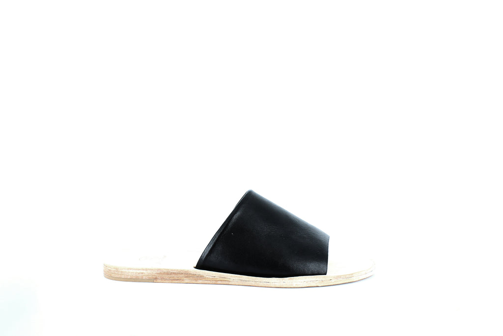Yieldings Discount Shoes Store's Seal Slide Sandals by N.Y.L.A. Shoes in Black
