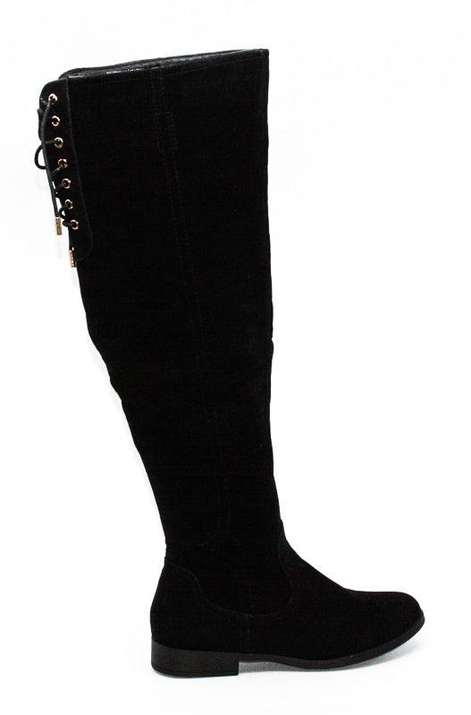 Yieldings Discount Shoes Store's Trishh 2 Over The Knee Boots by XOXO in Black