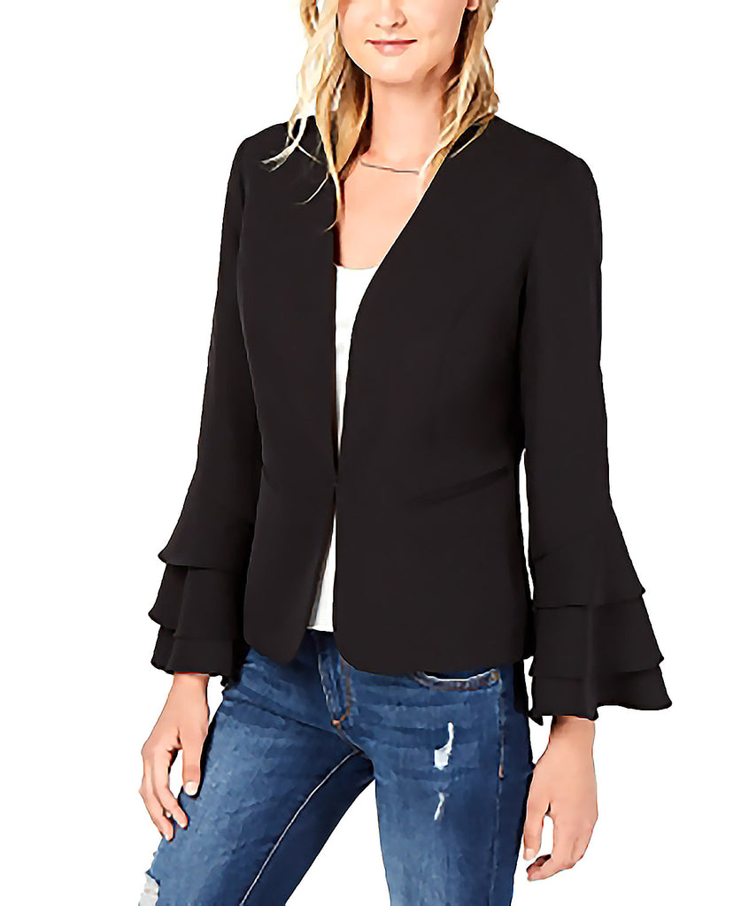 Yieldings Discount Clothing Store's Bell-Sleeve Blazer by Bar III in Deep Black