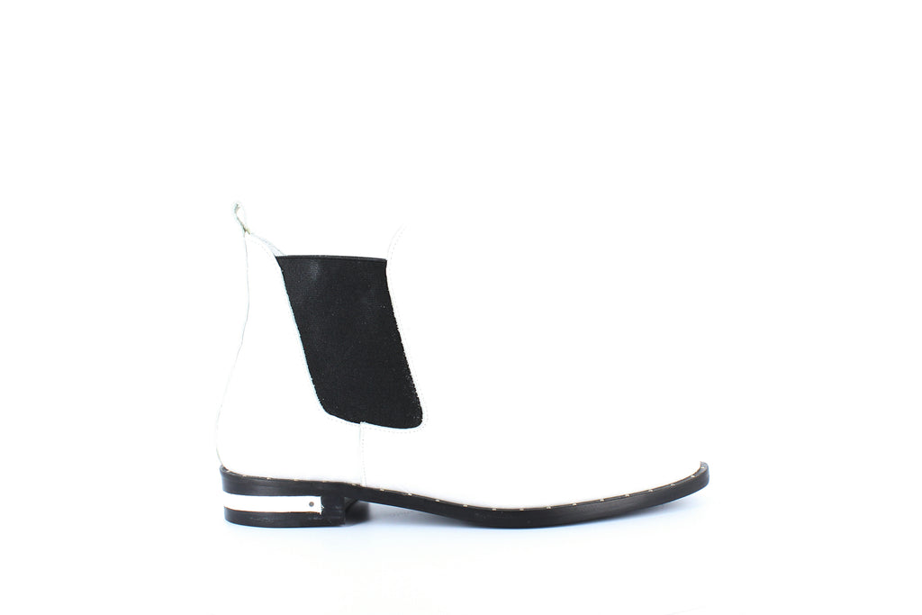 Yieldings Discount Shoes Store's Sleek Chelsea Booties by Freda Salvador in White