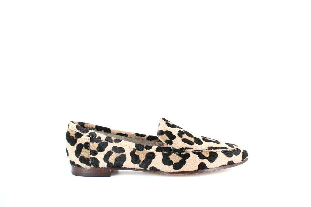 Yieldings Discount Shoes Store's Carima Leopard Print Calf Hair Loafers by Kate Spade in Blush/Fawn Leopard
