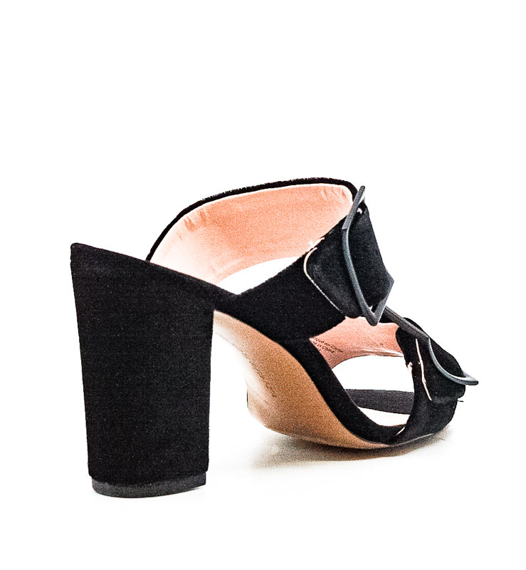 Yieldings Discount Shoes Store's Millie Block Heel Sandals by Avec Les Filles in Black