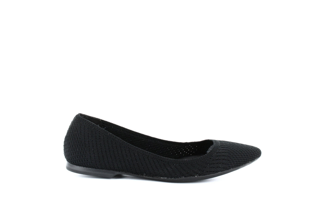 Yieldings Discount Shoes Store's Poppyy Pointed Toe Knit Flats by Alfani in Black