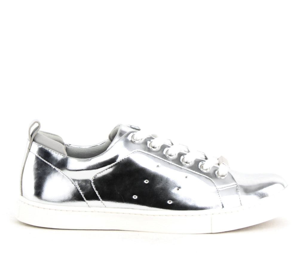 Yieldings Discount Shoes Store's Sakoda Lace-Up Sneakers by Aldo in Silver
