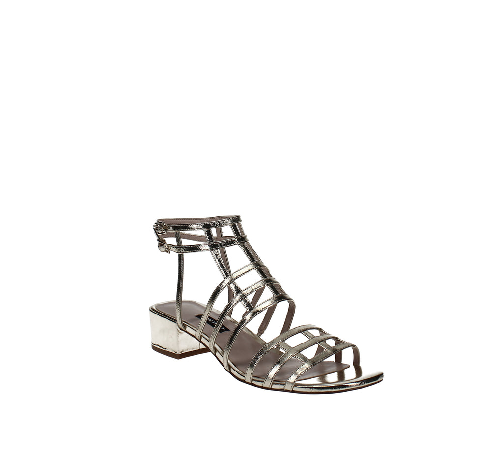 Yieldings Discount Shoes Store's Xerxes Gladiator Sandals by Nine West in Light Gold