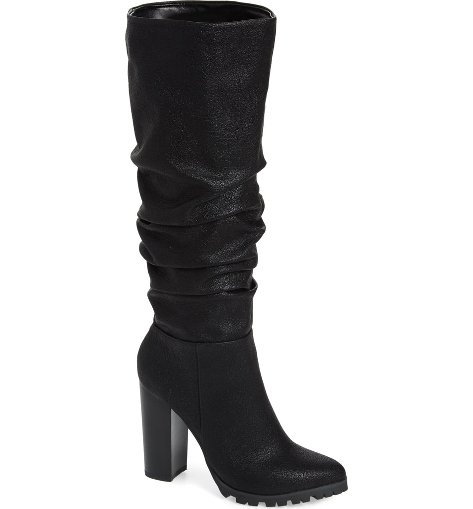 Yieldings Discount Shoes Store's The Oniel Knee High Boots by Katy Perry in Black