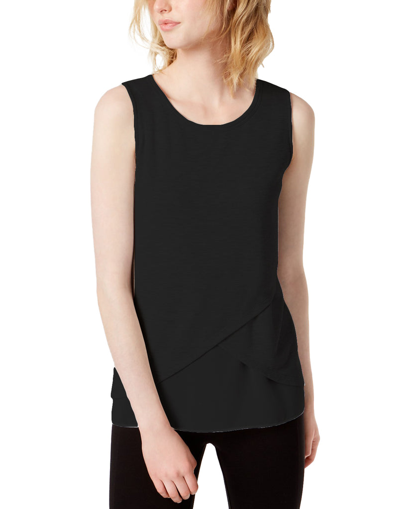 Yieldings Discount Clothing Store's Gypsy Dream Sleeveless Top by Bar III in Deep Black