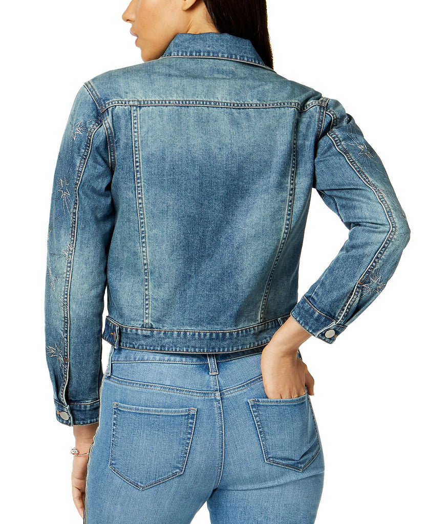 Yieldings Discount Clothing Store's Denim Star Jacket by Maison Jules in Medium Wash