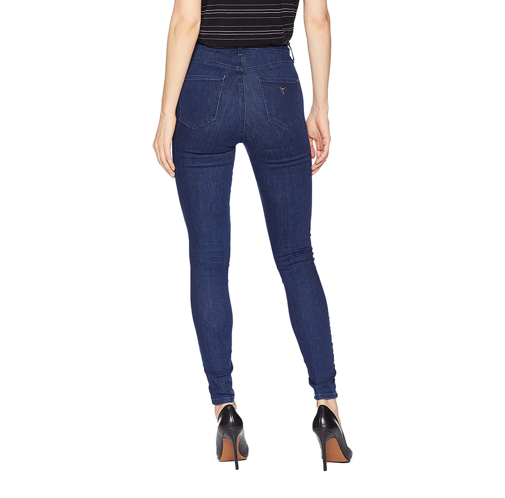 Yieldings Discount Clothing Store's Lace-Up Super High-Rise Jeans by Guess in Archer Wash