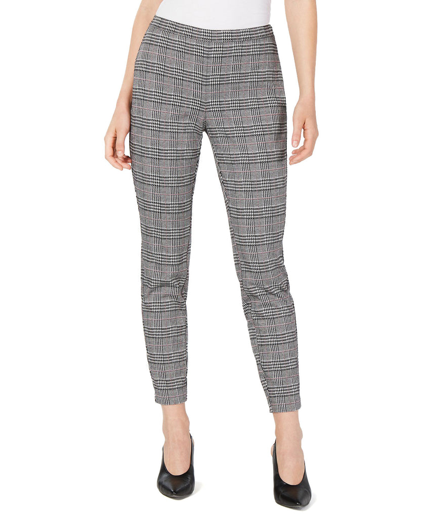 Yieldings Discount Clothing Store's Plaid Ankle Pants by Maison Jules in Black Combo
