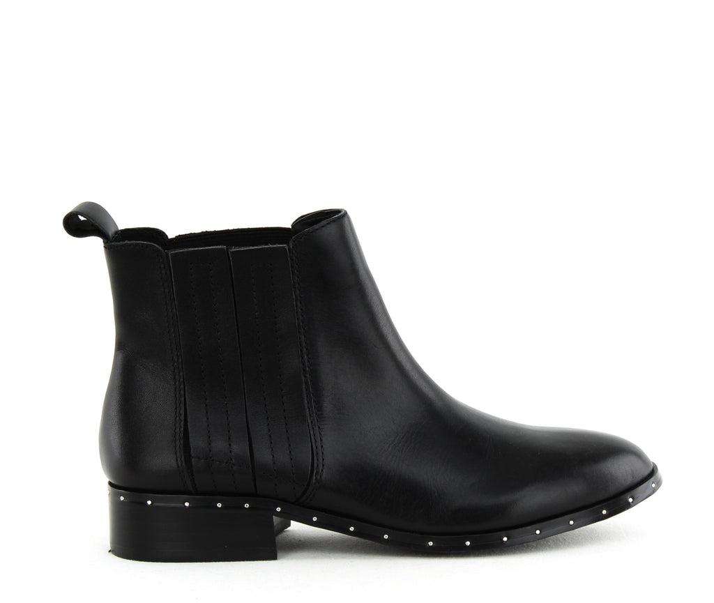Yieldings Discount Shoes Store's Orchid Studded Boots by Steve Madden in Black