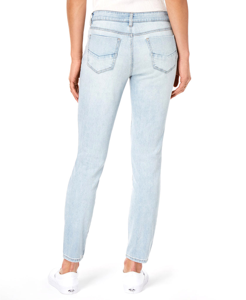Yieldings Discount Clothing Store's Rip & Repair Ankle Skinny Jeans by Dollhouse in Snowy Blue