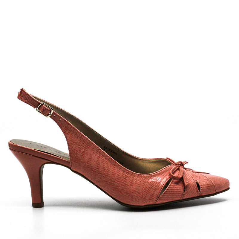 Yieldings Discount Shoes Store's Glenna Pointed Sling by Karen Scott in Coral