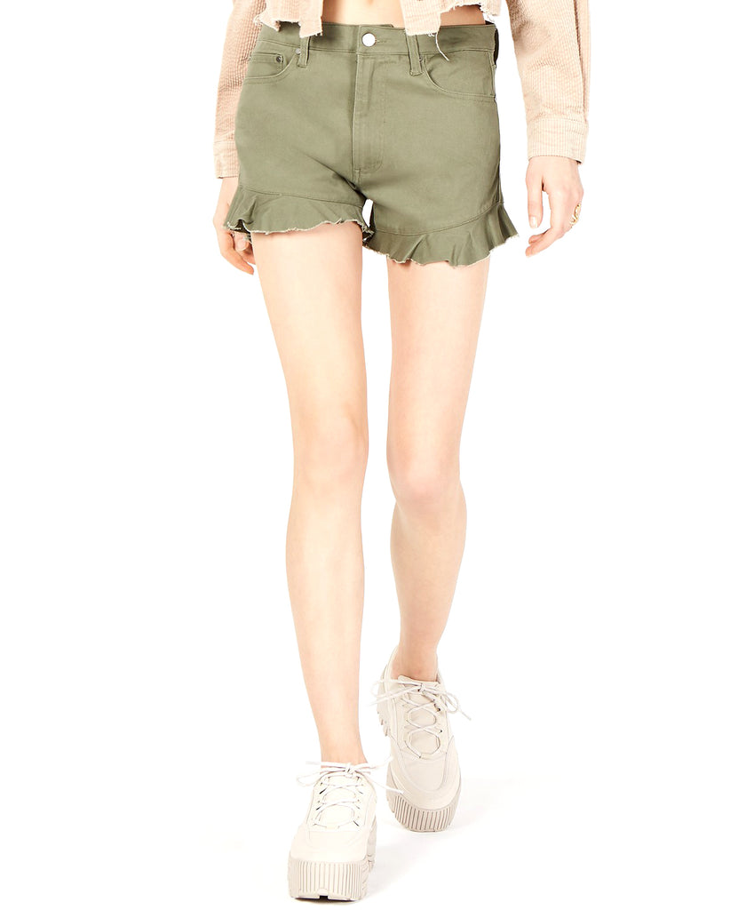 TDC | Topson Ruffled Denim Shorts