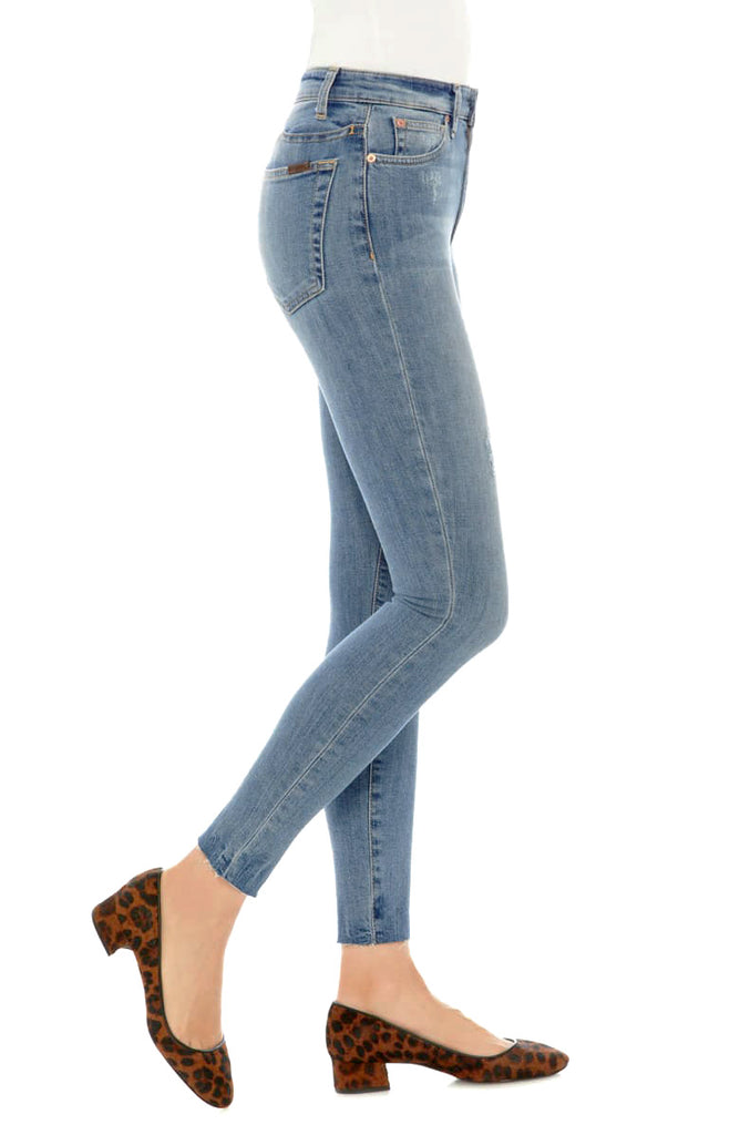 Yieldings Discount Clothing Store's The Charlie Raw-Hem Ankle Skinny Jeans by Joe's in Ridley