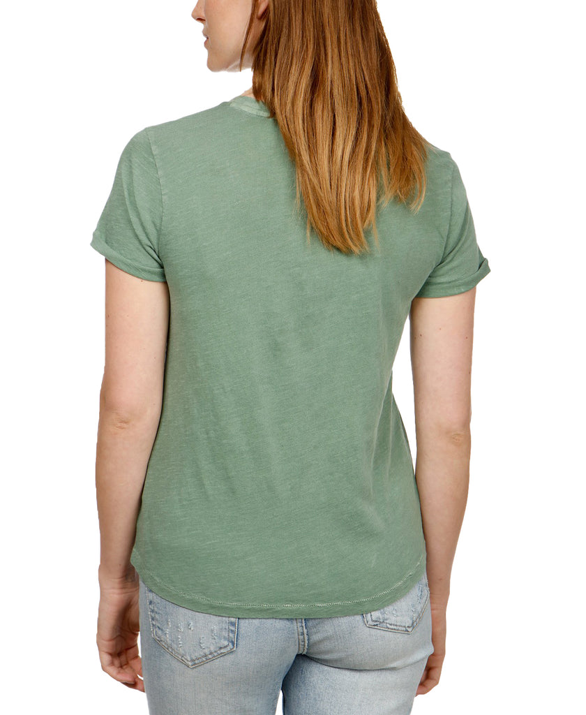 Yieldings Discount Clothing Store's EMB Cactus T-Shirt by Lucky Brand in Medium Green