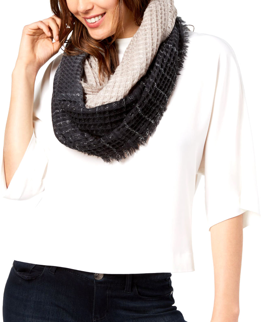 Yieldings Discount Accessories Store's Ombre Waffle Loop Scarf by INC in Black