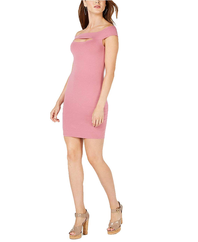 Yieldings Discount Clothing Store's Off Shoulder Navine Dress by Guess in Royal Mauve