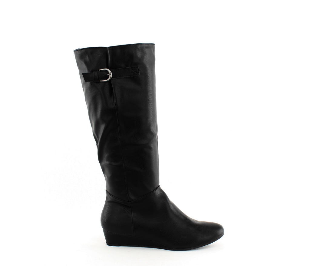 Yieldings Discount Shoes Store's Rainne Tall Wedge Boots by Style & Co in Black