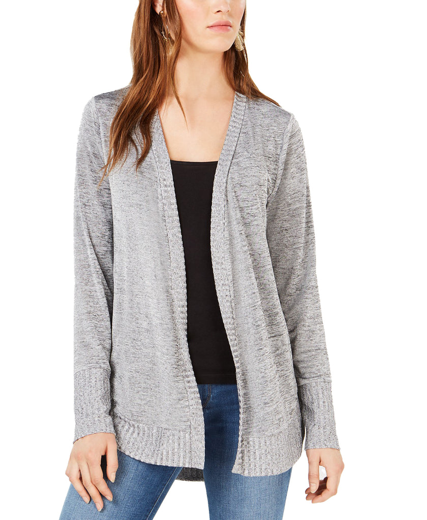 Yieldings Discount Clothing Store's Core Fashion Cardigan Cozy Jacket by Bar III in Silver