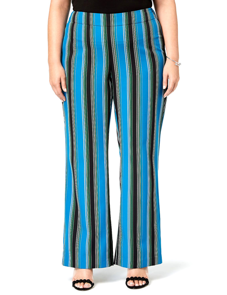 Yieldings Discount Clothing Store's Striped Wide-Leg Pants by INC in Shiny Stripe
