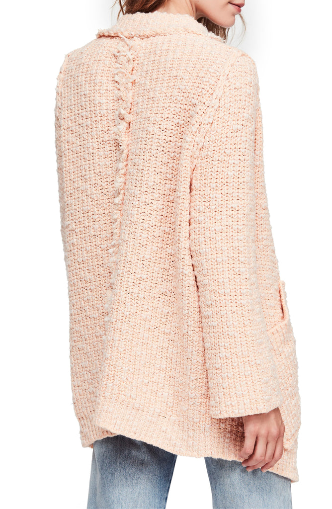 Yieldings Discount Clothing Store's Waterfront Sweater Jacket by Free People in Peach Fuzz