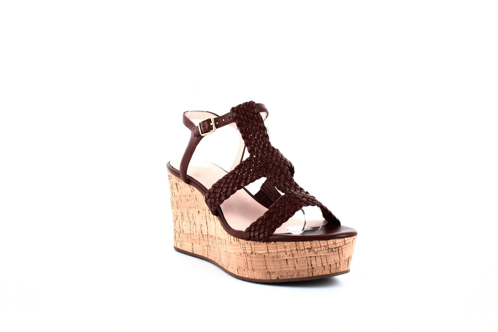 Yieldings Discount Shoes Store's Tianna Wedge Sandals by Kate Spade in Luggage Woven