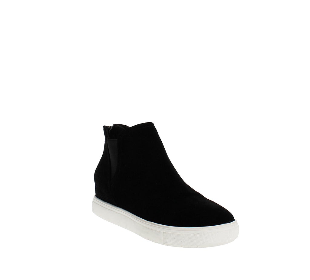 Yieldings Discount Shoes Store's Tayla Wedge Sneakers by INC in Black